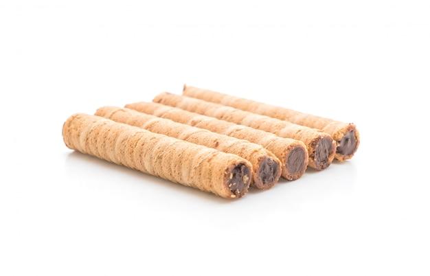 Gaufrette roulée fourrée à la crème de cacao