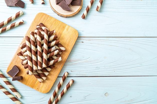 Gaufrettes au chocolat stick roll