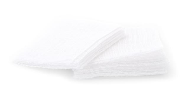 Gaze, médical isolé sur blanc