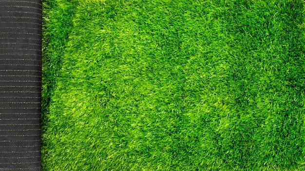 Gazon artificiel pour maquette de pelouse verte de terrains de sport avec espace de copie.