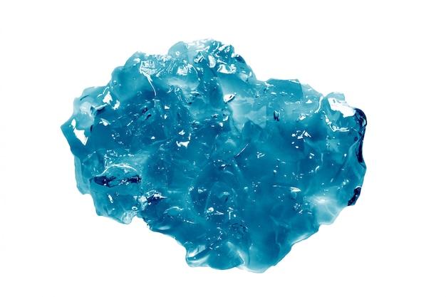 Gelée cosmétique bleue isolée on white