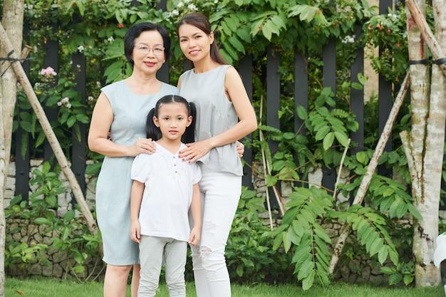 Génération familiale en plein air
