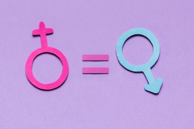Le genre féminin et masculin signe une responsabilité égale