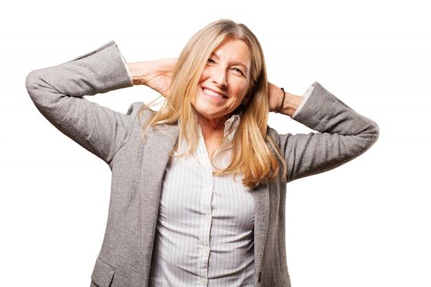 Les gens d'affaires moderne succès smiley