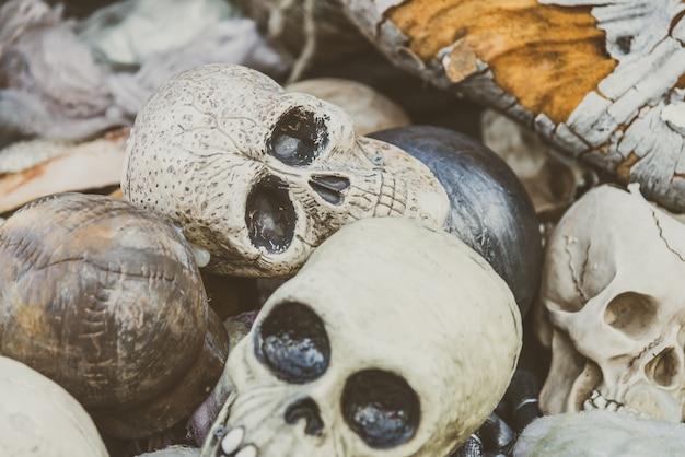 Les gens commémoratifs de halloween morts humain