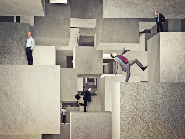 Les gens sur les cubes