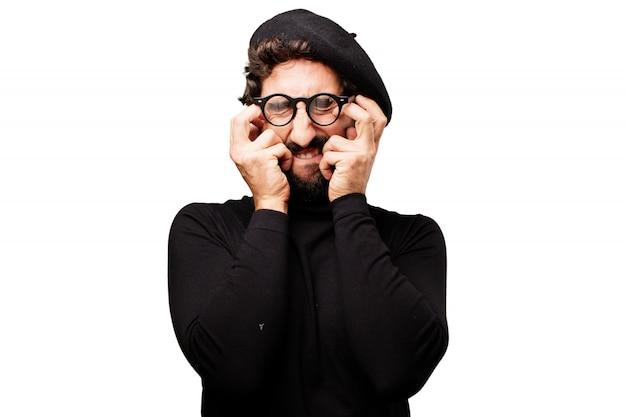 Gens homme écrivain peur moustache