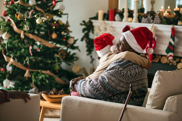Les gens profitent des vacances de noël