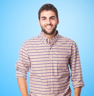Gens souriants beaux hommes gai