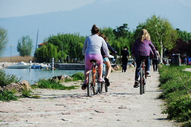 Gens, utilisation, cycle, plage