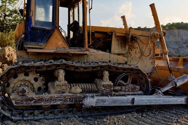 Géologie de territoire de construction de travaux d'excavatrice