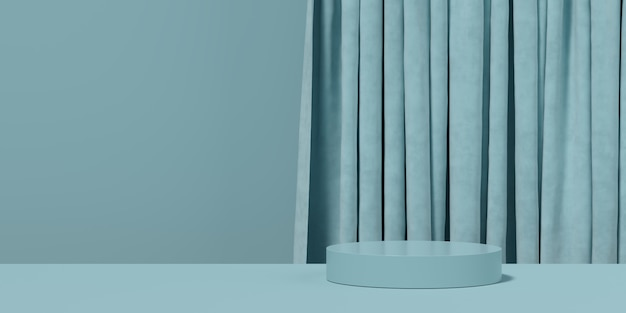 Géométrie bleue abstraite forme de fond. scène minimaliste podium
