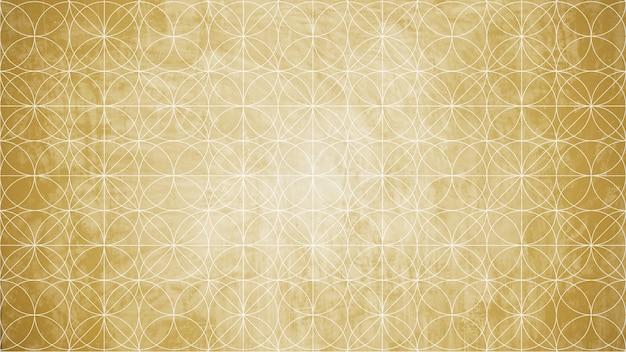 Géométrie sacrée en forme de fond de fleur.
