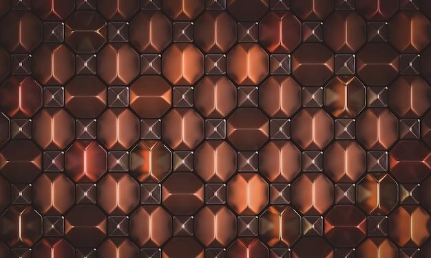 Géométrique abstrait métallique