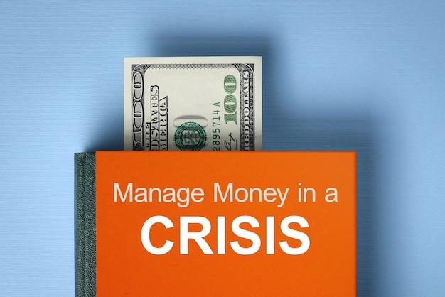 Gérer son argent en temps de crise. livre sur la littératie financière. concept d'épargne financière