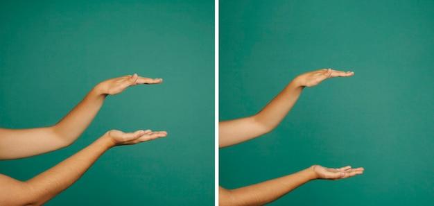 Geste de main grand