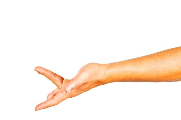 Gestes de la main qui montrent une stimulation sexuelle.