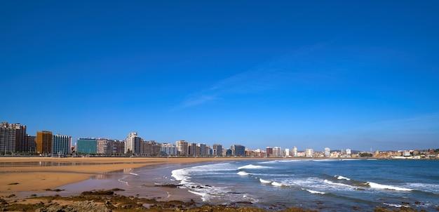 Gijon playa san lorenzo plage asturies espagne