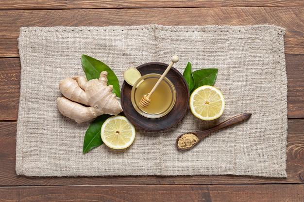 Gingembre, miel et citron