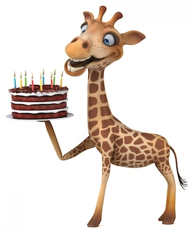 Girafe amusante - illustration 3d