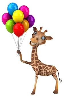 Girafe amusante - personnage 3d