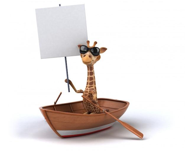 Girafe amusante