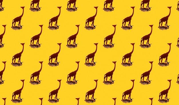 Girafes en bois sans soudure tropicales petites