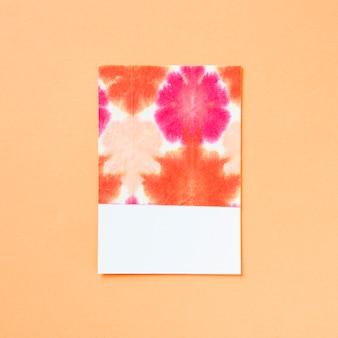 Girly coloré motif artistique floral