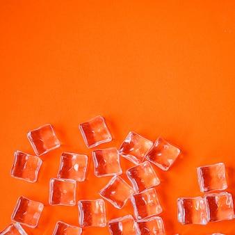 Glace artificielle transparente acrylique pièces en plastique réutilisable