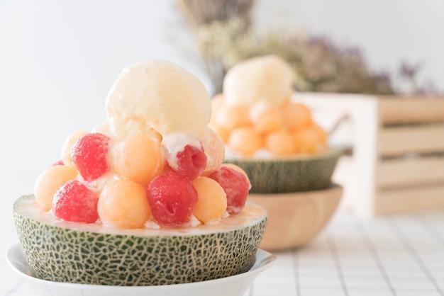 Glace de glace bingsu, célèbre glace de corée
