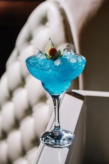 Glace liquer bleu lagon