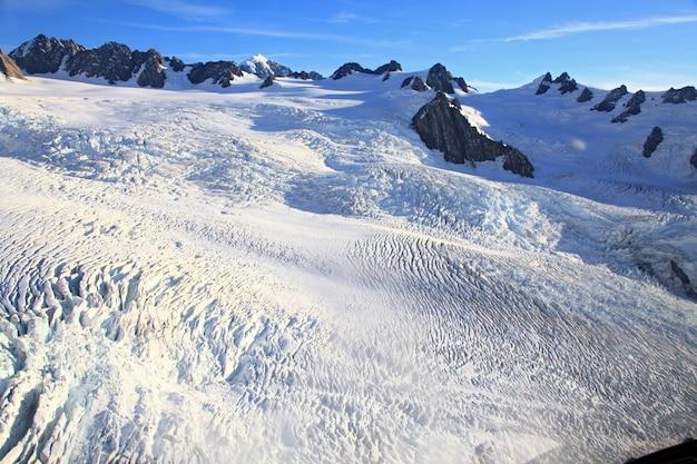 Glacier franz josef en vue de dessus