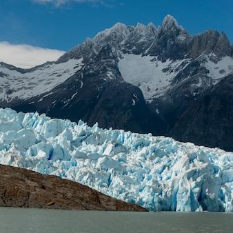 Glacier gris, lac gris, parc national de torres del paine, patagonie, chili
