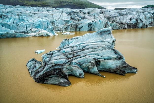 Glacier svinafellsjokull à vatnajokull, islande.