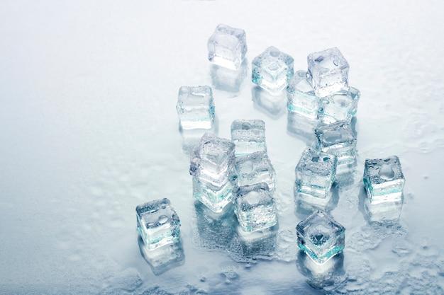 Glaçons . concept de refroidissement, glace alimentaire.