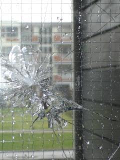 Glas brisé, verre