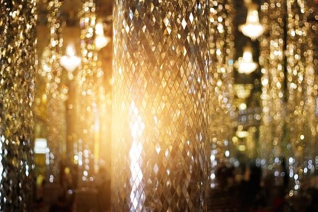 Glister verre de mosaïque de pilier pour la décoration et l'intérieur