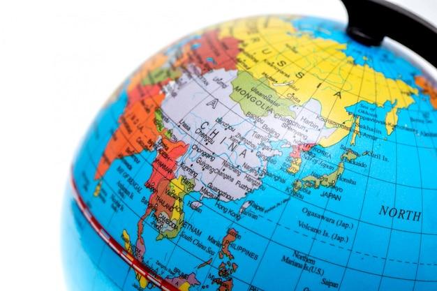 Globe de bureau de près