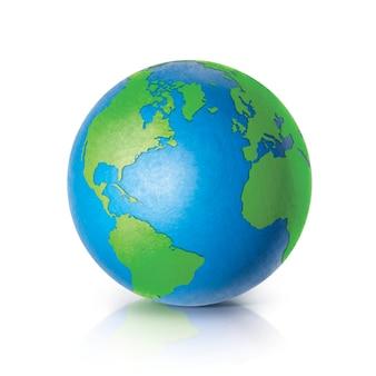 Globe couleur illustration 3d amérique du nord et du sud carte