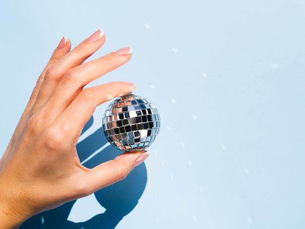 Globe disco argenté
