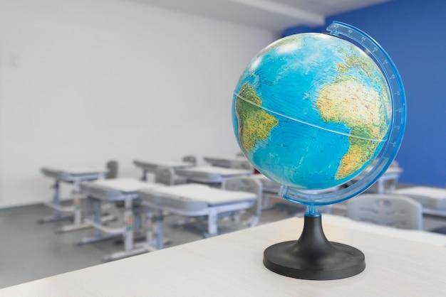 Globe géographique en gros plan