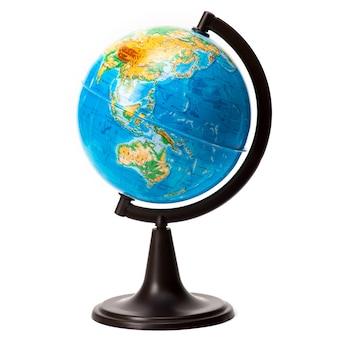 Globe isolé sur blanc