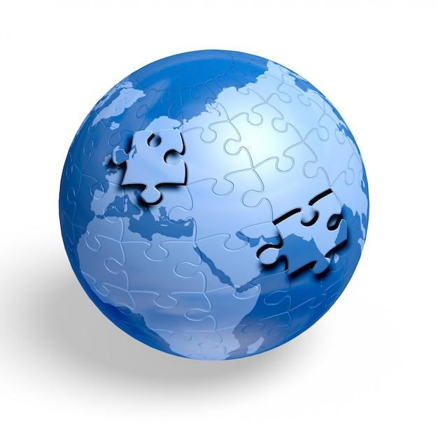 Globe de puzzle de terre