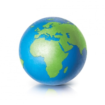 Globe terrestre couleur