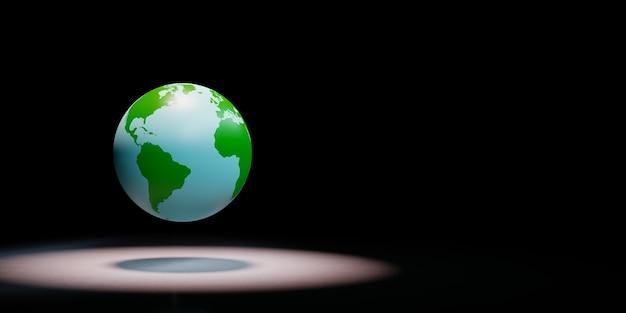 Globe terrestre sous les projecteurs isolé
