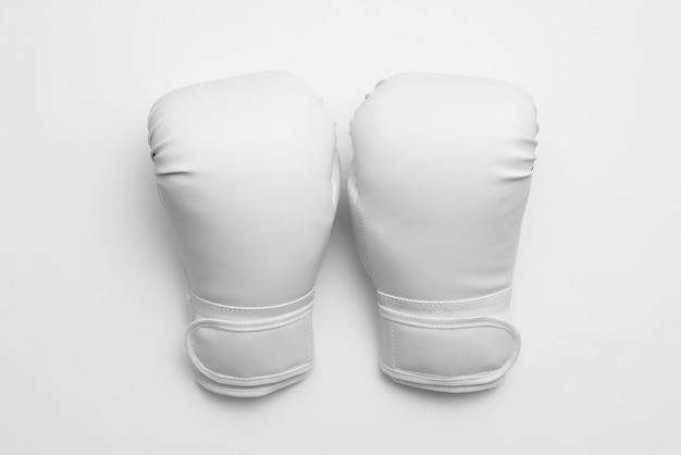 Globes de boxe vue de dessus