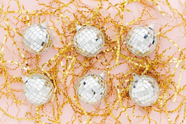 Globes de vue de dessus pour la fête
