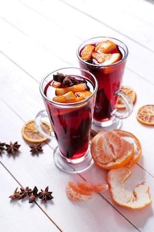 Glühwein allemand, également connu sous le nom de vin chaud ou de vin épicé