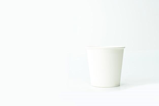 Gobelet en papier avec espace copie