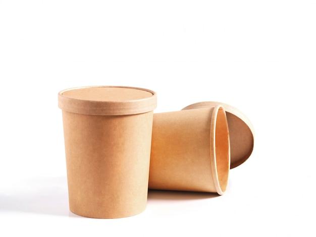 Gobelets en papier brun